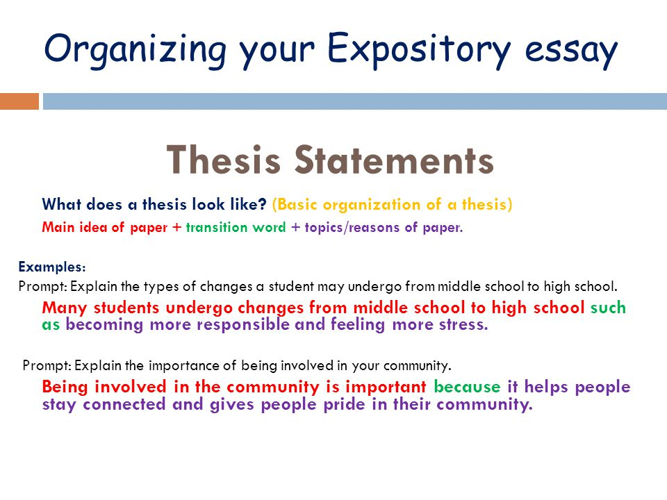 examples of thesis statements for expository essays expository essay