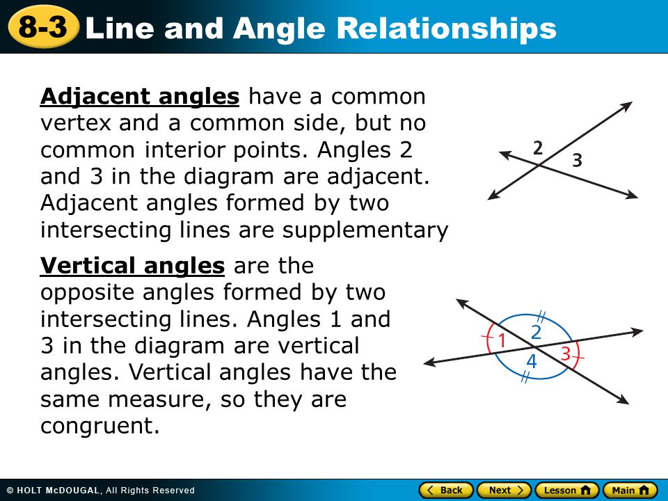 8-3 Line and Angle Relationships Warm Up Find the complement of each