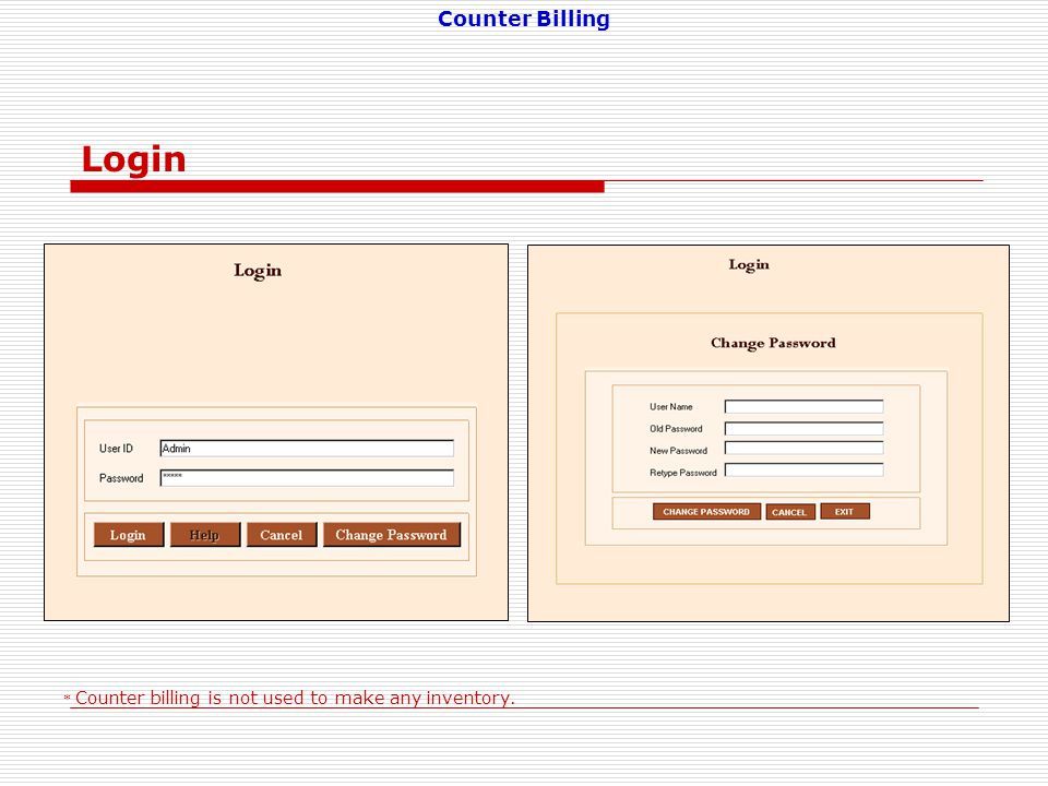 Counter Billing is a software to prepare invoices at retail counter