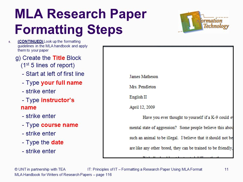 Mla format is Research paper Academic Service uzcourseworkdlqbinfra - paper formatting guidelines