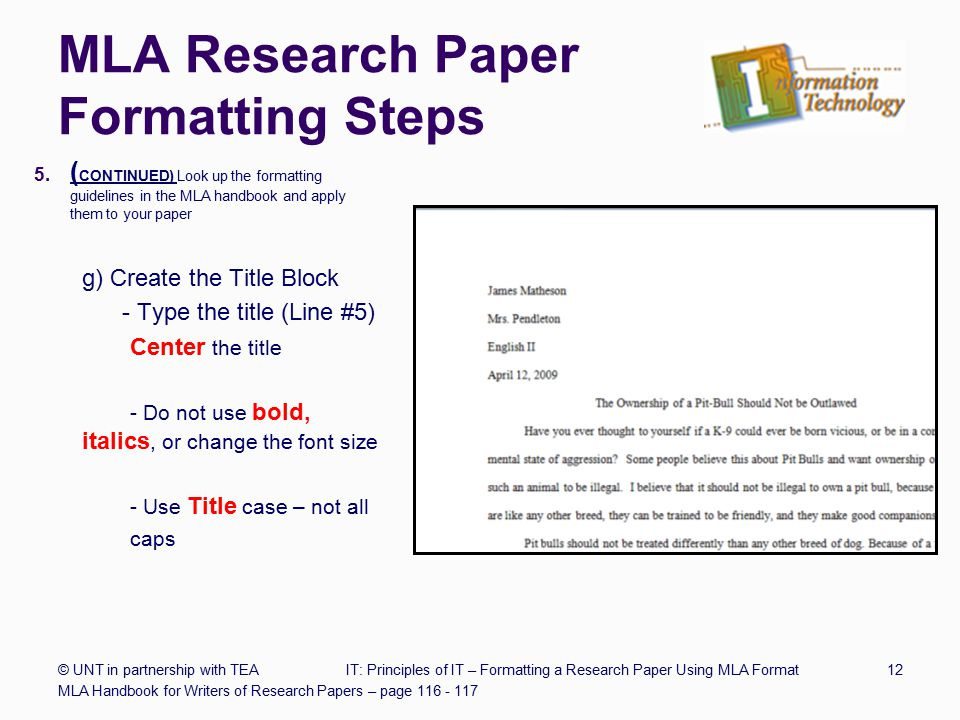 Mla research paper format references College paper Academic Writing - paper formatting guidelines