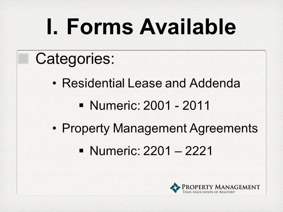 Property Management Webinar Series Property Management Forms - property management agreements