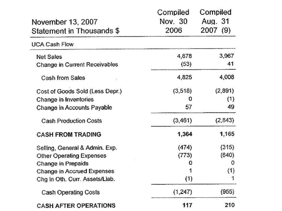 Uca Cash Flow Template - Design Templates