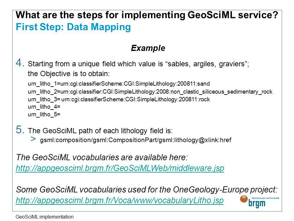 GeoSciML Implementation by Agnès Tellez-Arenas GeoSciML