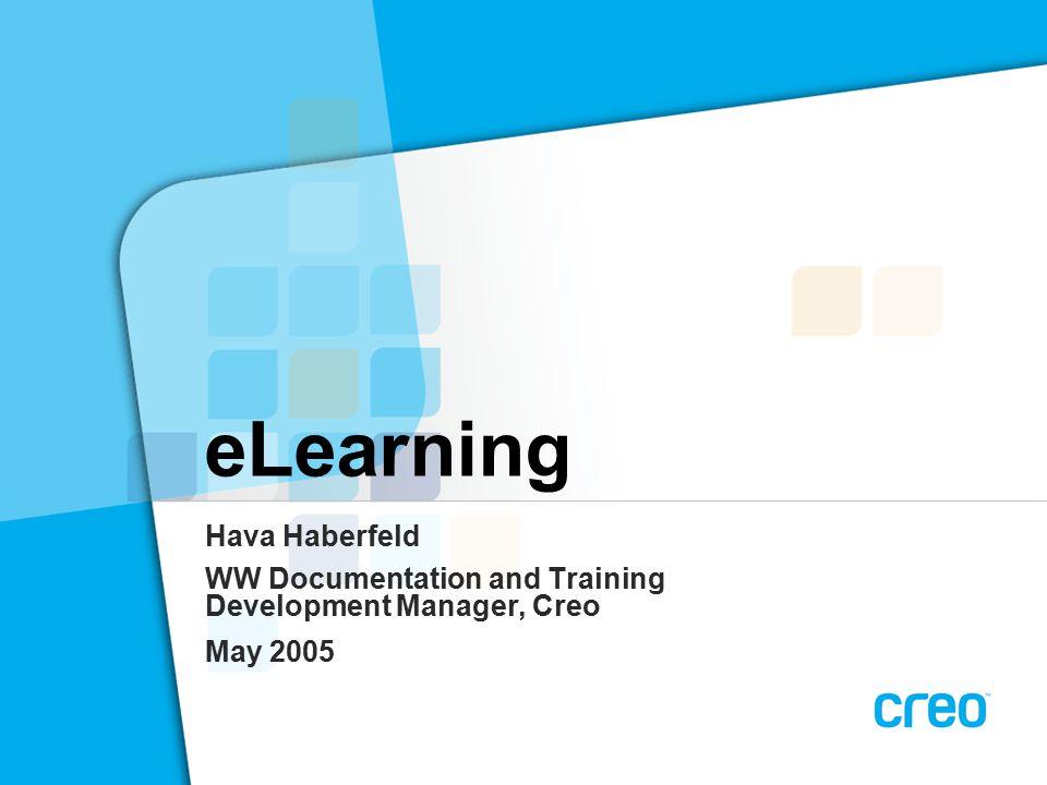 ELearning Hava Haberfeld WW Documentation and Training Development