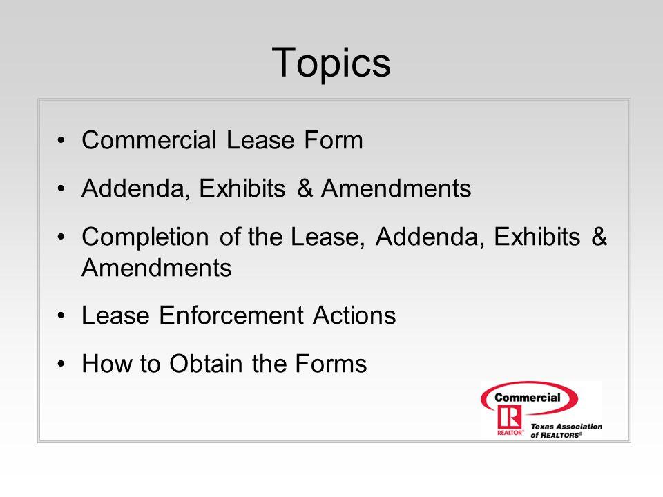 Commercial Webinar Series 1 hour presentation TAR Commercial Leasing - commercial lease form