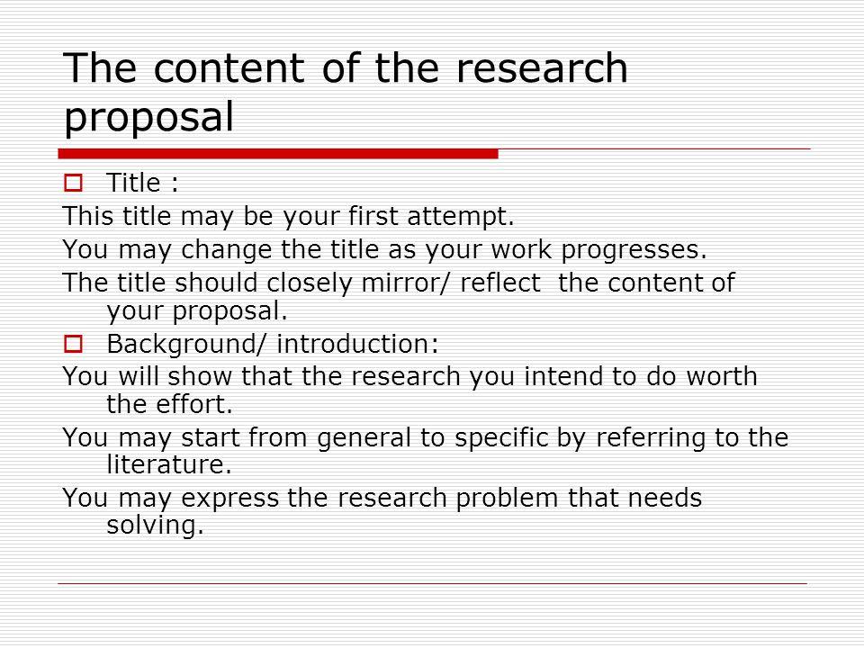 Research proposal content - atinaorgar