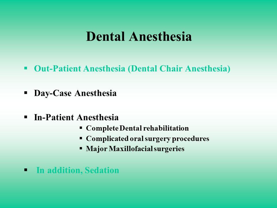 DENTAL ANESTHESIA COMPLICATIONS IN THE DENTAL CHAIR SAAD A SHETA