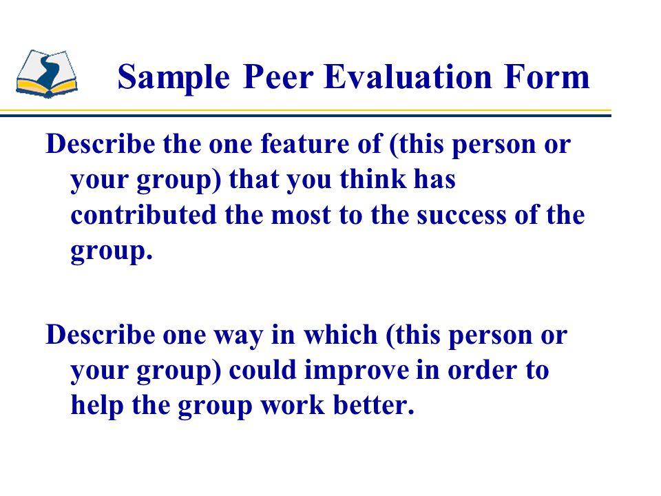 Sample Peer Evaluation Form Group Work Student Peer Evaluation Form - peer evaluation form sample
