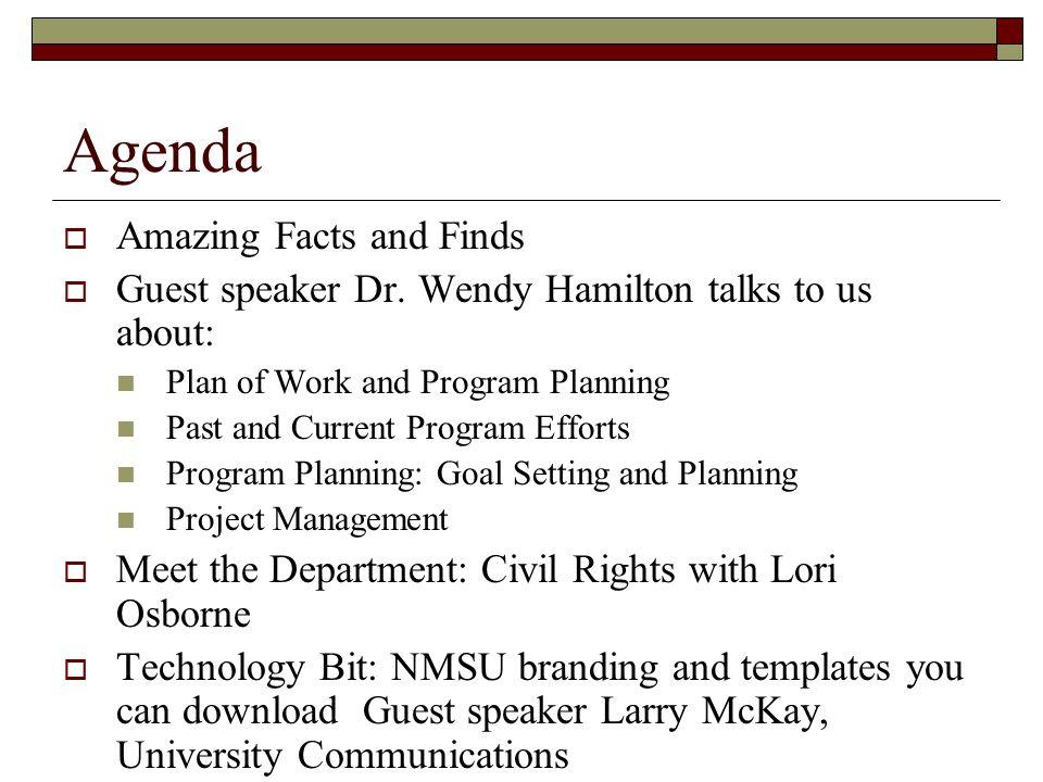 New Employee Orientation November 29, Agenda  Amazing Facts and