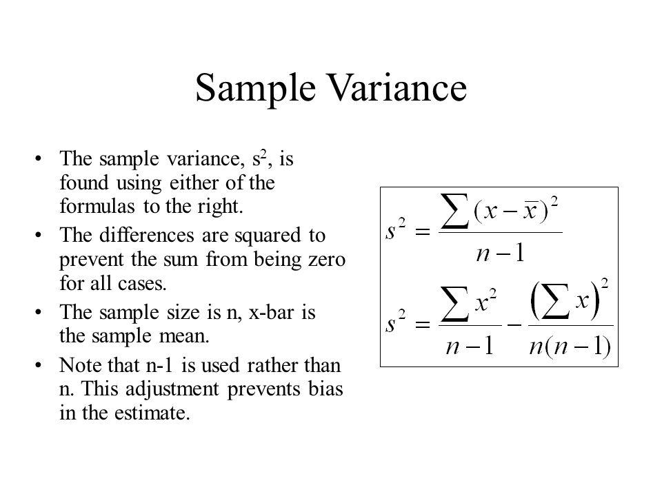 Equation For Sample Variance - Jennarocca - sample variance