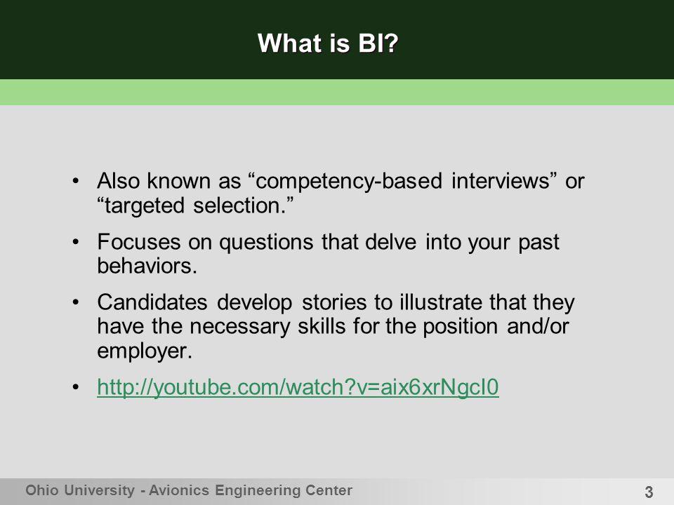Behavioral Interviewing Robbyn T Matthews, MA Coordinator for