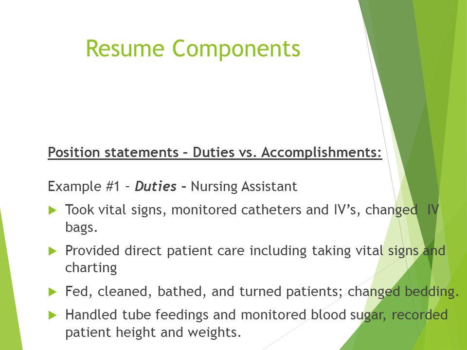 Righteous Resume Employment Resource Center - W207 Lake Washington - resume accomplishment statements examples