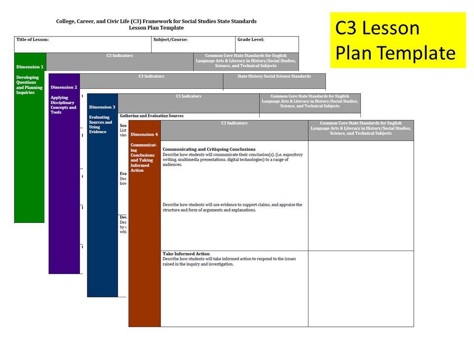 Social Studies Lesson Plan Template Colbro