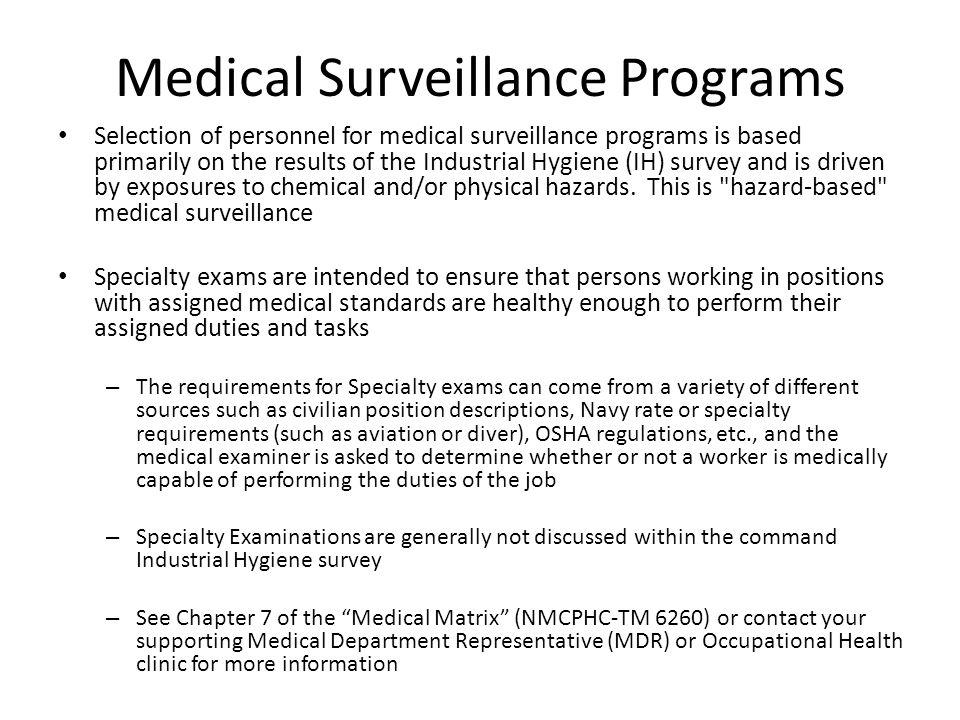 Medical Surveillance Exam Completion Report Instructions With - medical examiner job description