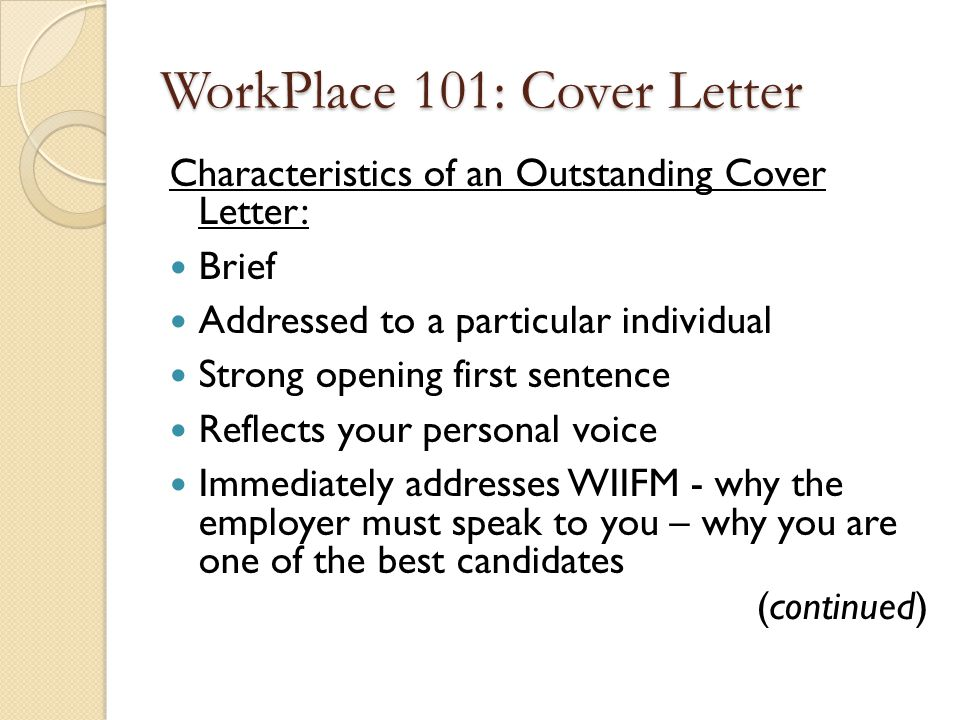 how to write a brief cover letter