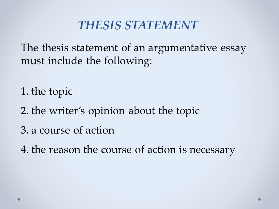 English, BA - Creative Writing - California State University - thesis statement example for argumentative essays