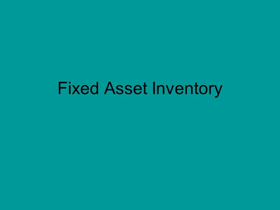 Fixed Asset Inventory Database Refresh 1 Run Oracle Reports to - how to create an inventory database