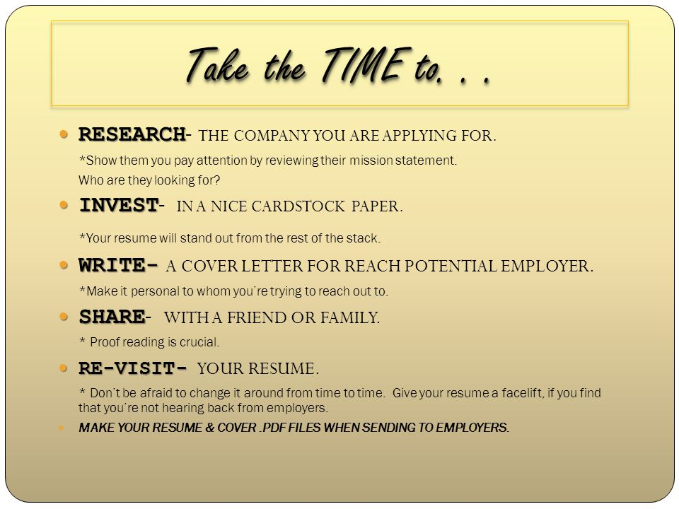 Building Your Resume How would you define a resume? RESUME A RESUME