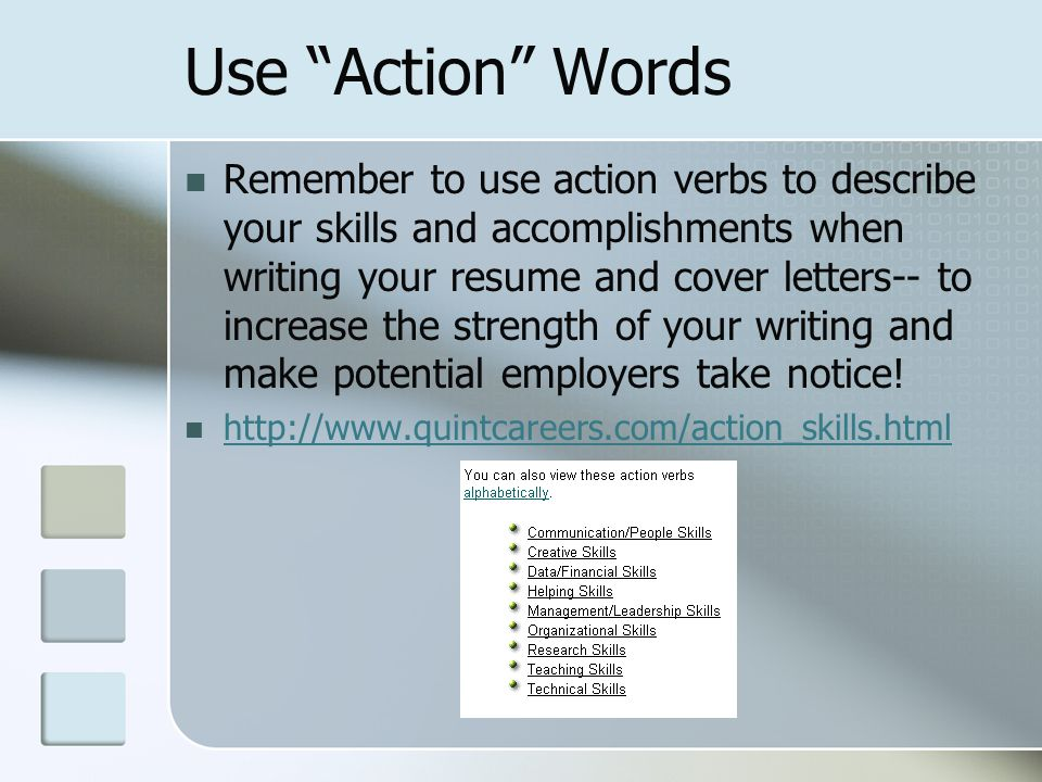 Resume Writing Workshop I was born in a log cabin on a beautiful - resume strength words