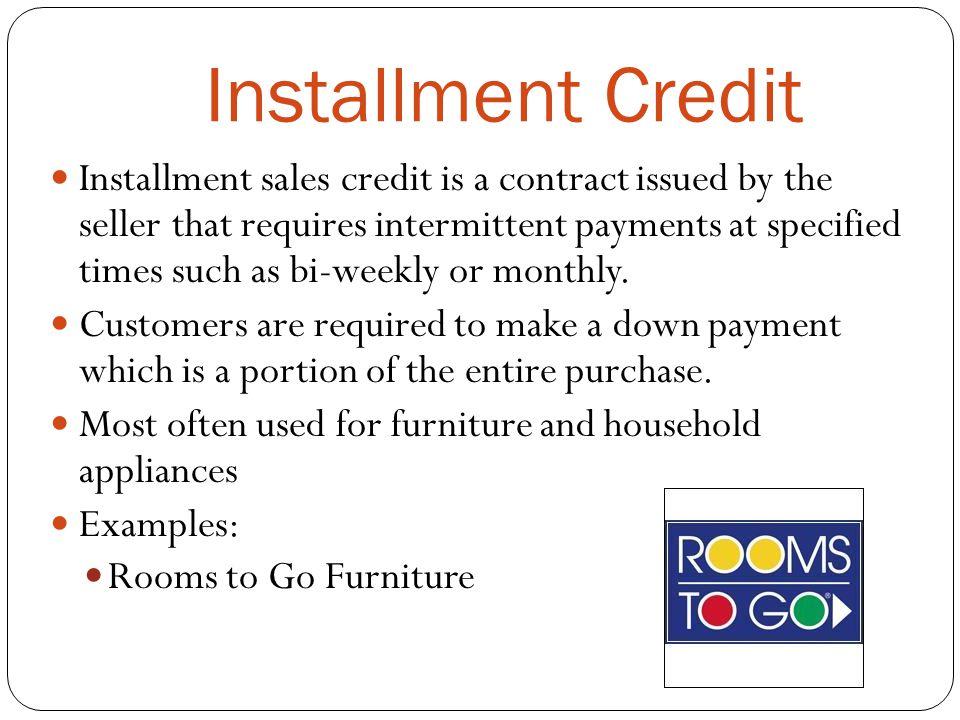 501 Understand credit management Credit Management - ppt download - installment sales contract