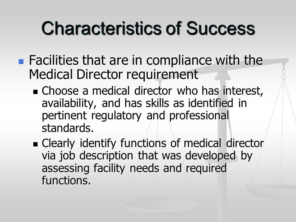 The Medical Director F Tag-501Guidance* Kurt Hansen MD, CMD Douglas