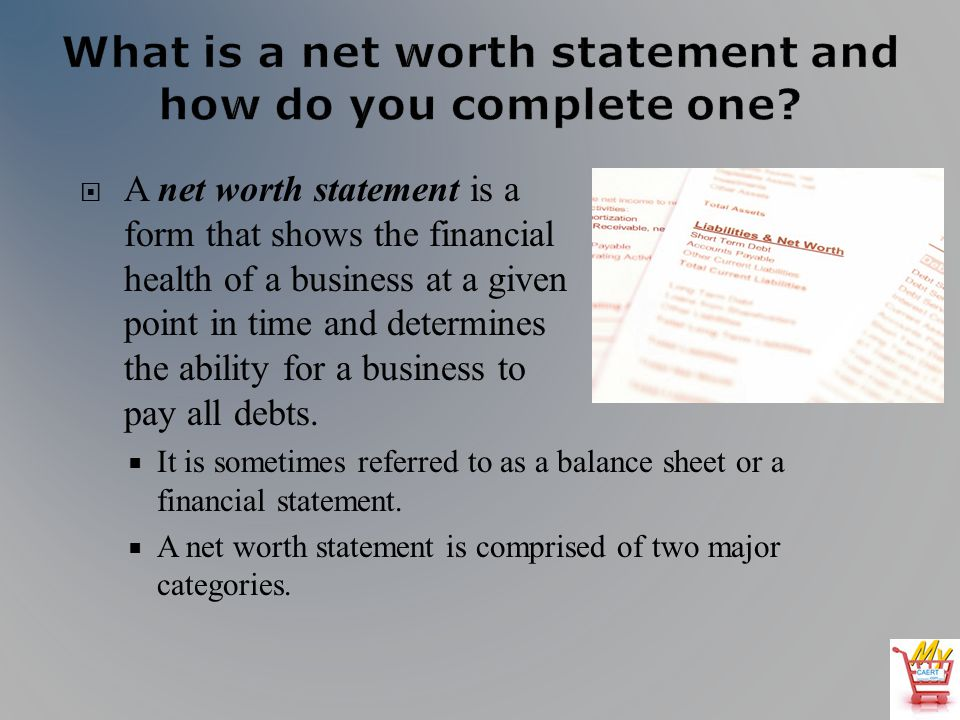 Agribusiness Library LESSON L060087 CALCULATING NET WORTH - ppt - business net worth