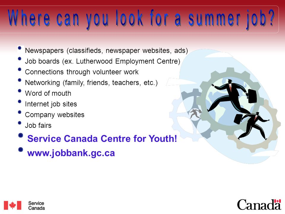 The Service Canada Centre for Youth 165 King St East, Kitchener (519