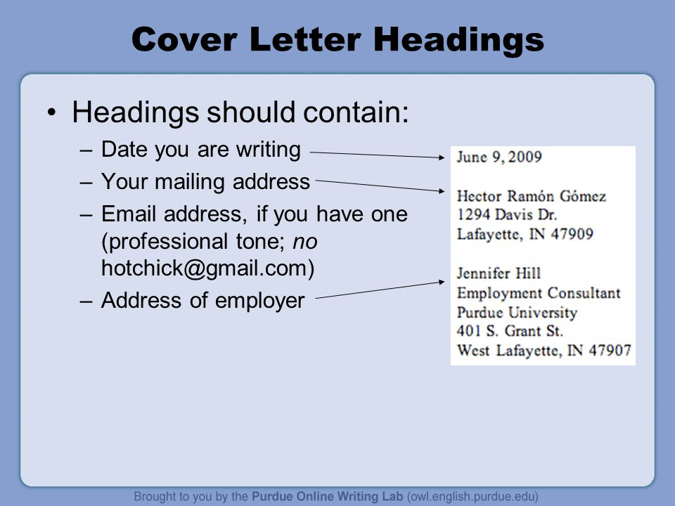 WorkOne Job Letters Workshop Overview This presentation will - what should a cover letter contain