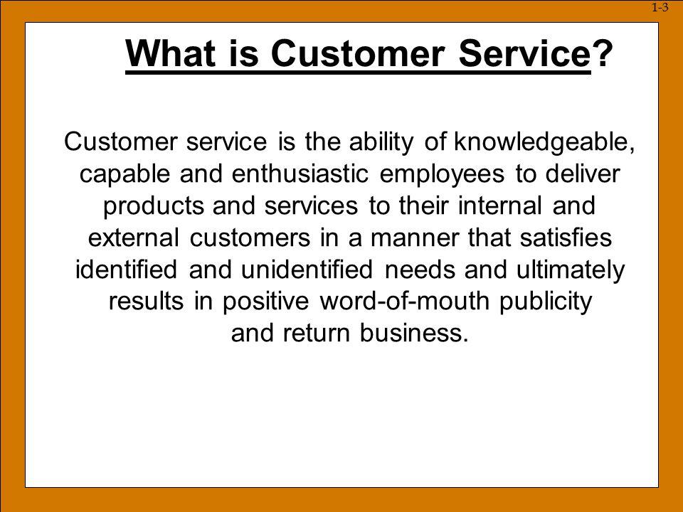 Part Define customer service 2Describe factors that have impacted