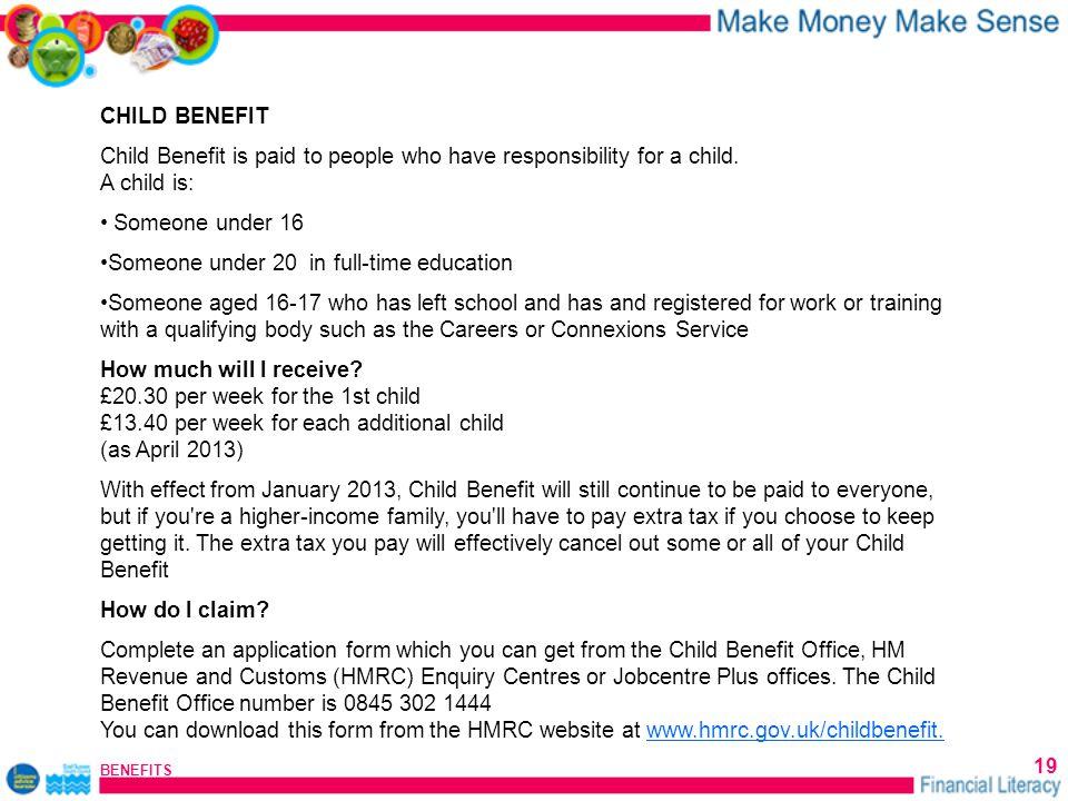BENEFITS 1 Eastbourne Citizens Advice Bureau Financial Literacy