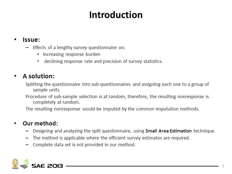 Increasing Survey Statistics Precision Using Split Questionnaire