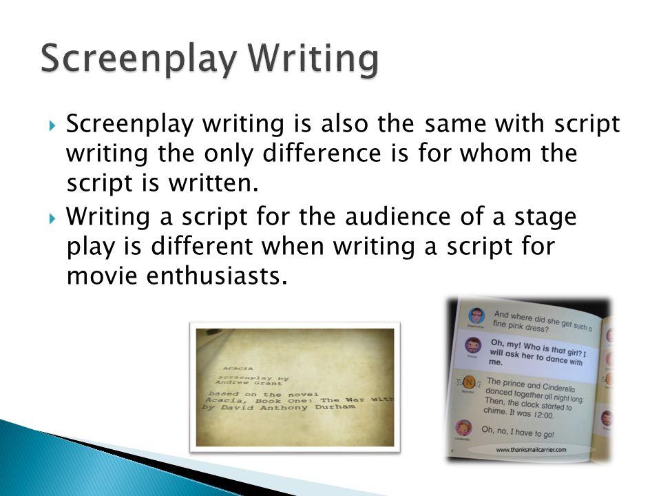 Script writing help College paper Academic Service