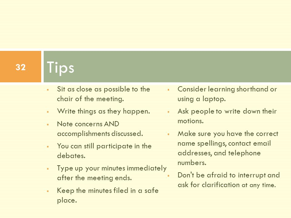 CCSNH SYMPOSIUM \u002713 HOW TO TAKE MINUTES Erica R Buteau Associate