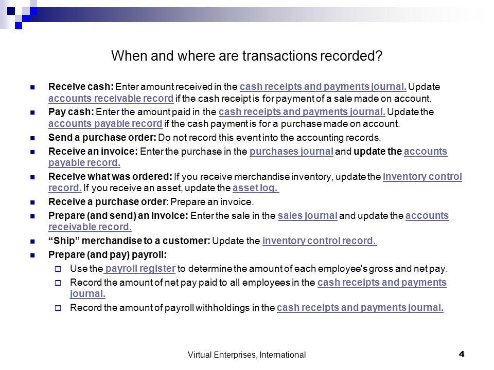 Virtual Enterprises, International 1 ACCOUNTING DEPARTMENT - payroll receipt