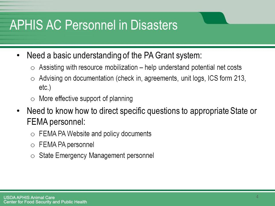 1 Overview of FEMA Public Assistance Grant Program Unit 7 Revised - fema application form