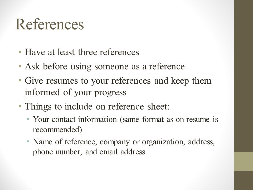 how to make a reference sheet for your resume - Pinarkubkireklamowe