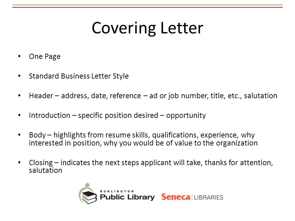 cover letter date