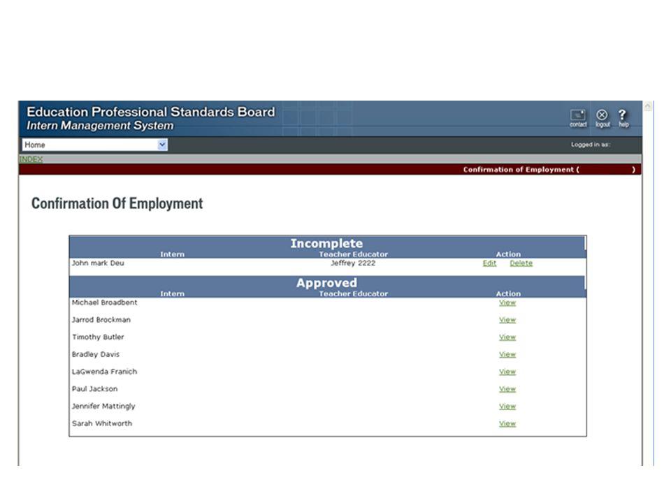 Intern Management System District Coordinator Modules New District