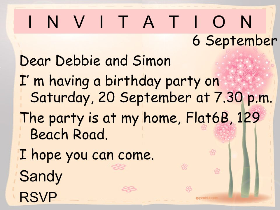 Invitation Letter For Home Party Images Invitation Sample And - Birthday invitation letter to a friend in english