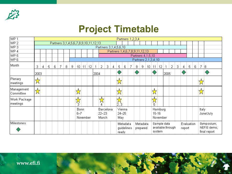 Risto Päivinen NEFIS 15 November Project Timetable - ppt download