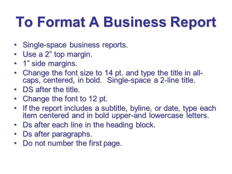 Business Reports Format - Hotelsandlodgings
