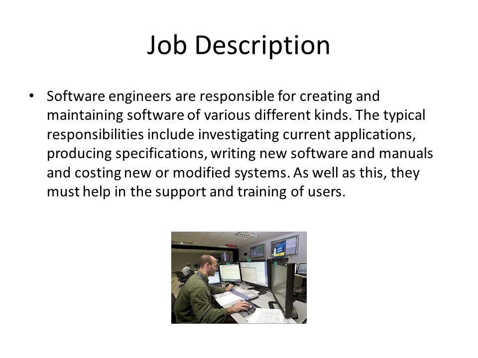 IT Job Roles Task 20 Software Engineer Job Description Software