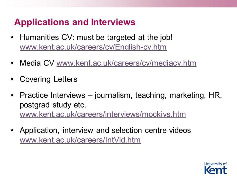 The University of Kent Careers and Employability Service English