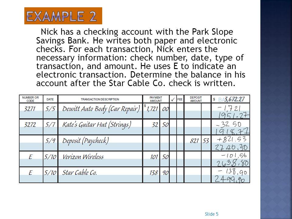 transaction registers for checking accounts - Vatozatozdevelopment