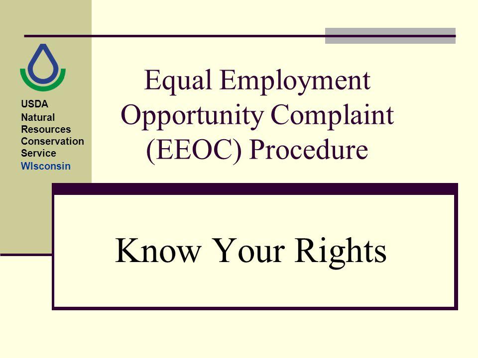 Equal Employment Opportunity Complaint (EEOC) Procedure Know Your - eeoc complaint form