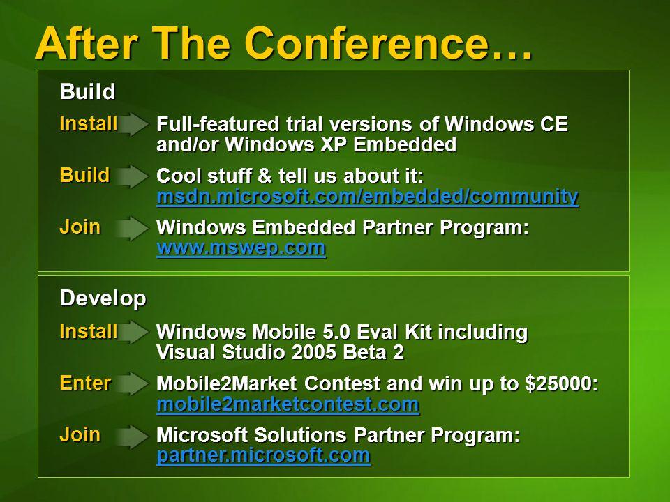 EMB313 Increasing Developer Productivity With Windows CE 50 Matt