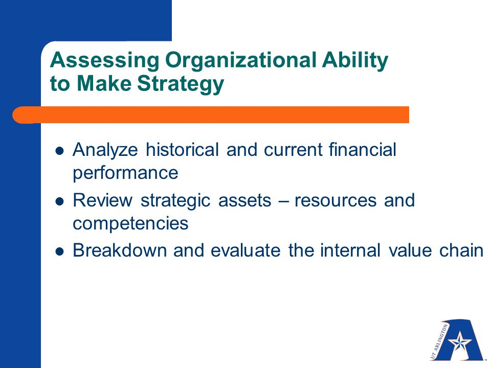 Internal Environmental Analysis HCAD Assessing Organizational