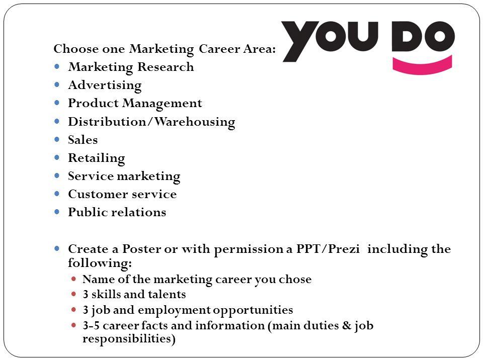 102 Understand career opportunities in marketing to make career