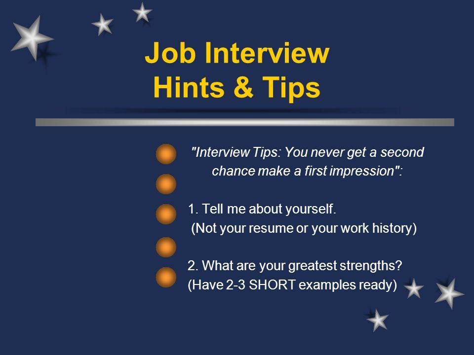 Job Interview Hints  Tips \